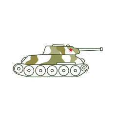 Armoured tank icon 23 of february holiday vector