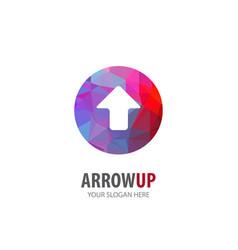 Arrow up logo for business company simple arrow vector
