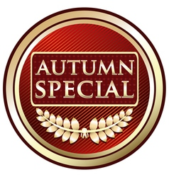 Autumn Special Red Label vector image