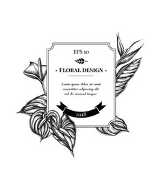 Badge design with black and white gloriosa vector