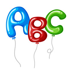 Balloons with alphabets shapes abc vector