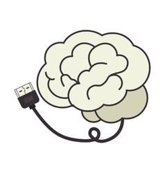 Brain cable plug vector