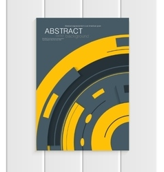 brochure in abstract style with yellow vector image
