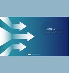 Business arrow target direction background vector
