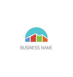 Business economy chart company logo vector