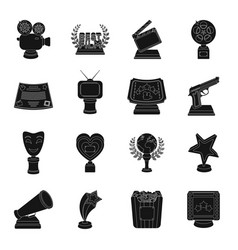 Camera shout globe objects for rewarding films vector