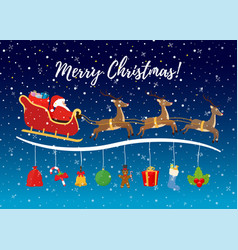 cartoon christmas background for ad poster vector image
