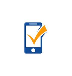 check mobile logo icon design vector image