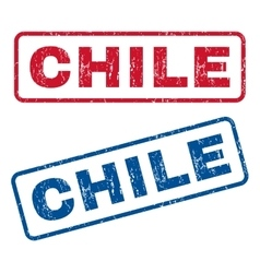 Chile Rubber Stamps vector