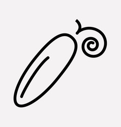 cucumber icon line element of vector image