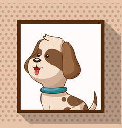 cute doggy frame picture vector image