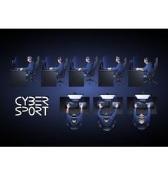 cyber sport design vector image