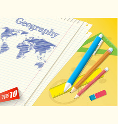 Education realistic background vector