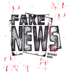 fake news text illuatration vector image