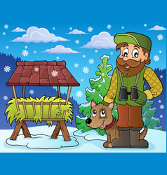 Forester winter theme 5 vector