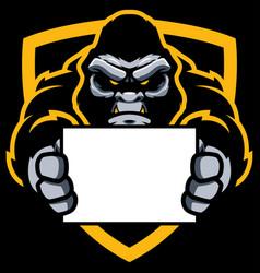 Gorilla sign mascot vector