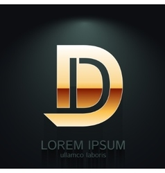 Graphic Elegant Gold Letter D vector