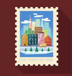 greeting christmas mark vector image