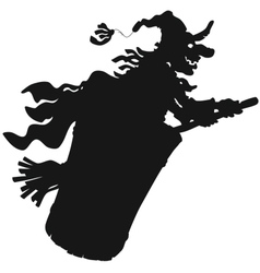 Halloween Witch flying vector image