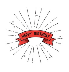 Happy birthday flat design poster vector