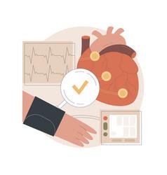 Heart disease diagnosis abstract concept vector