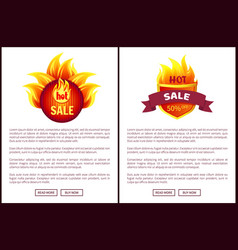 hot sale heraldic icon round label web promo offer vector image