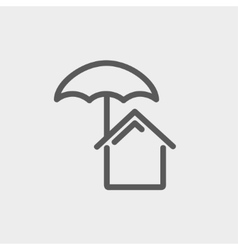 House insurance thin line icon vector