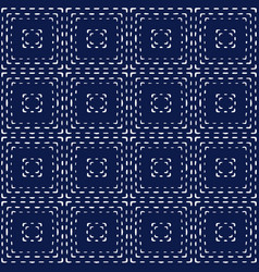 indigo blue hand drawn seamless pattern vector image