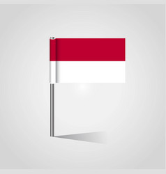 Indonesia flag map pin vector