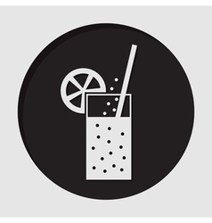information icon - carbonated drink straw citrus vector image