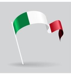 Italian wavy flag vector image