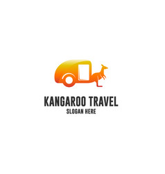 kangaroo travel vector image