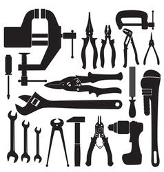 locksmith tools set vector image