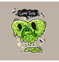 Love Sick vector image