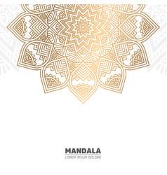 luxury light mandala background vector image