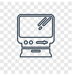 Macintosh concept linear icon isolated on vector