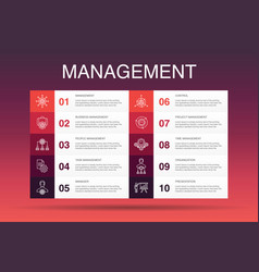 Management infographic 10 option template manager vector