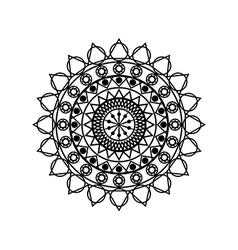 Mandala Geometric pattern in Buddhist and Hindu vector
