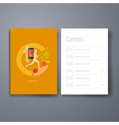 Modern mobile sport tracking flat icons cards vector image