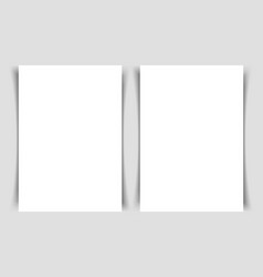 mok-up of two vertical flyers of a4 format vector image