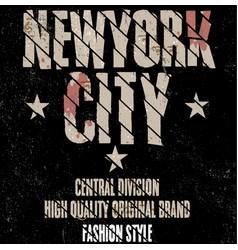 New york sport wear typography emblem t-shirt vector