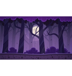 Night Forest Background vector image