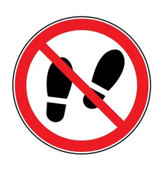 No shoes sign warning vector