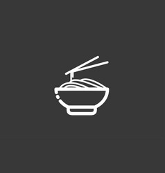 noodles icon sign symbol vector image