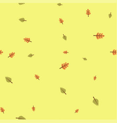oak and birch leaves pattern seamless color vector image