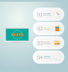online taxes payment infographics vector image