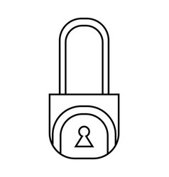 padlock flat linear icon of lock isolated on vector image
