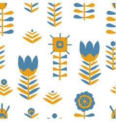 paper cut scandinavian pattern vector image