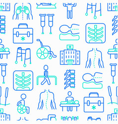 physiotherapy seamless pattern vector image