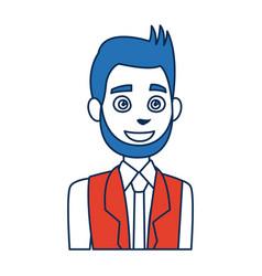 Politician man avatar campaign election democracy vector